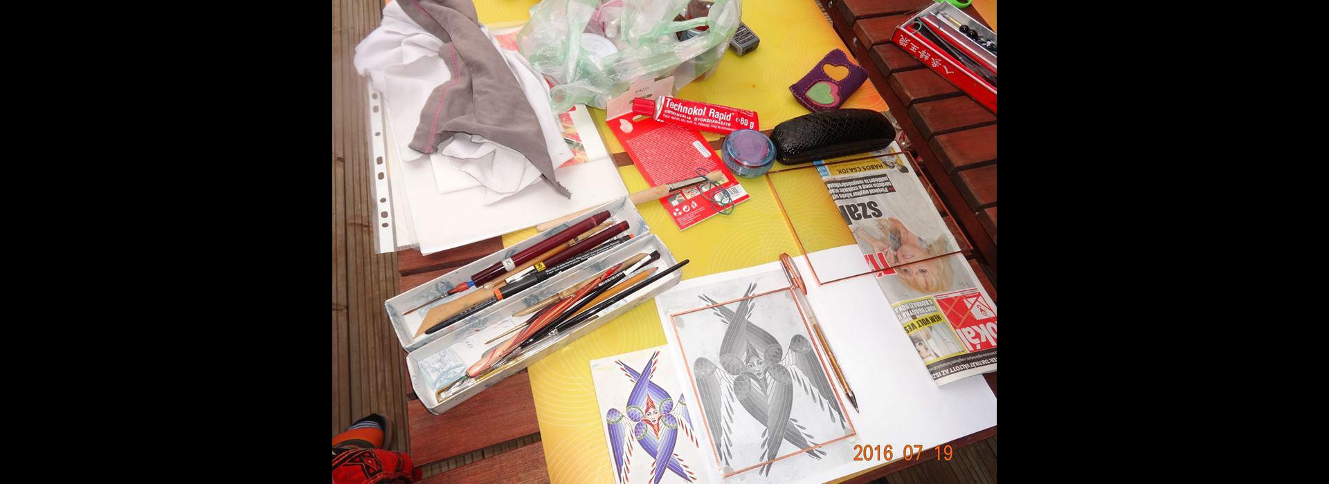 Tabara de pictura ( Artistic camp)-Sacalaia 2016