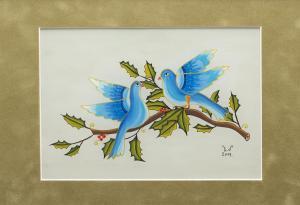 Blue birds 21,5X15